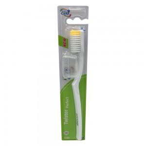 Euro Care Twister Perfect Medium Toothbrush - White
