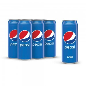 Pepsi, Carbonated Soft Drink, Cans, 245 ml x 6