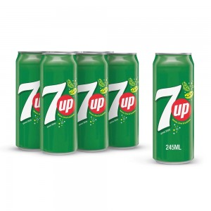 7UP, Carbonated Soft Drink, Cans, 245 ml x 6