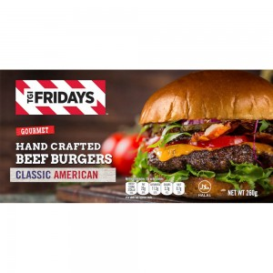 TGIF Hand Crafted Beef Burgers - 26gm