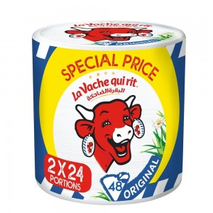La Vache qui rit Original Spreadable Cheese Triangles, 24 Portions x2 pack, 48Portions, 720 g