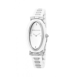 Nina Ricci Rose Gold Case Leather Strap Analog Women's Watch (N066004SM)