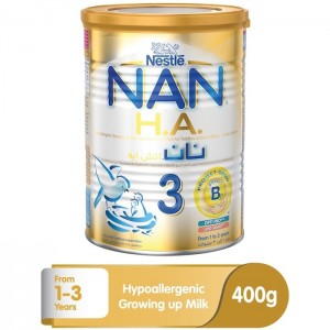 Nestle Nan Ha Stage 3 (1-3 Years Old) Hypoallergenic growing Up Milk For Toddlers Powder Tin 400g