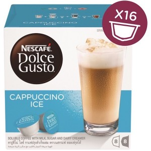 Nescafe Dolce gusto Cappuccino Ice Coffee Capsules (16 Capsules, 8 Cups) 216g