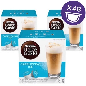 Nescafe Dolce gusto Cappuccino Ice Coffee Capsules (16 Capsules, 8 Cups) 216g, 3 Pcs