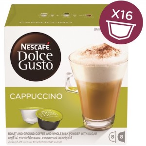 Nescafe Dolce gusto Cappuccino Coffee Capsules (16 Capsules, 8 Cups) 200g