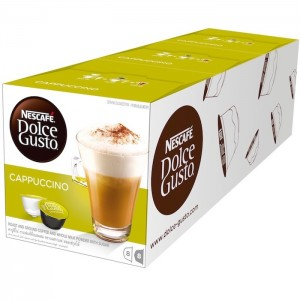 Nescafe Dolce gusto Cappuccino Coffee Capsules (16 Capsules, 8 Cups) 200g, 3 Pcs