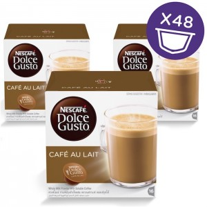 Nescafe Dolce gusto Cafe Au Lait Coffee Capsules (16 Capsules, 16 Cups), 3 Pcs