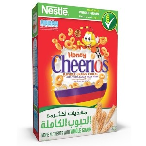 Nestle Honey Cheerios Breakfast Cereal 375g, 12 Pcs
