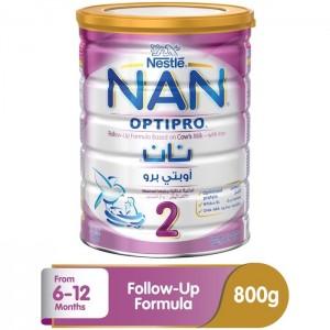 Nestle Nan 2 Optipro Follow-up Formula Milk - 800g Tin, 12300376