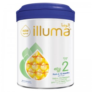 Wyeth Nutrition Illuma Stage 2, 6-12 Months Super Premium Follow On Formula For Babies Tin 850g