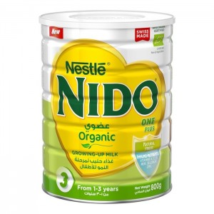 Nestle Nido Fortiprotect One Plus Organic (1-3 Years Old) growing Up Milk Tin 800g