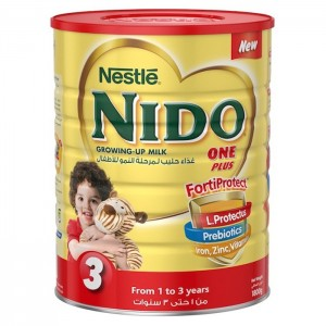 Nestle Nido One Plus Milk Powder with Protectus - 1800g Tin, 11449020