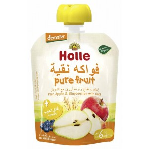Holle - Pouch Pear, Apple & Blueberry with Oats 90g