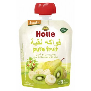 Holle Organic Pouch Pear & Banana With Kiwi 90g