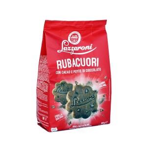 Lazzaroni Ruba Cuori Cocoa With Chocolate Chip Biscuits 300g