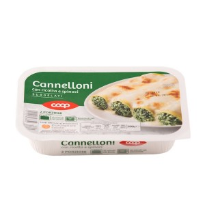 Coop Frozen Cannelloni With Ricotta Cheese And Spinach 500g