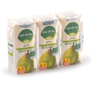 Vivi Verde Organic Pear Juice 3 x 200ml