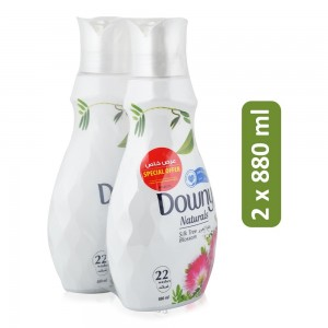 Downy Naturals Silktree Concentrate Fabric Softener - 2 x 880 ml