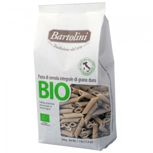 Bartolini Organic Whole Wheat Penne 500g