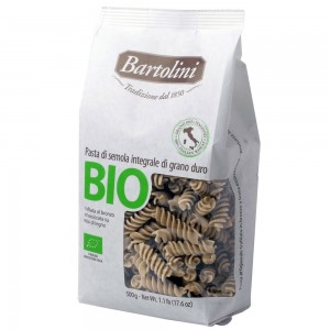 Bartolini Organic Whole Wheat Fusilli 500g