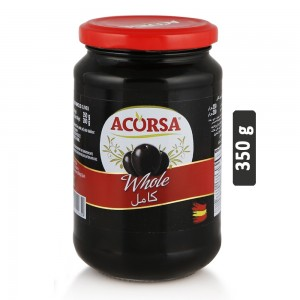 Acorsa Black Whole Olives - 350 g