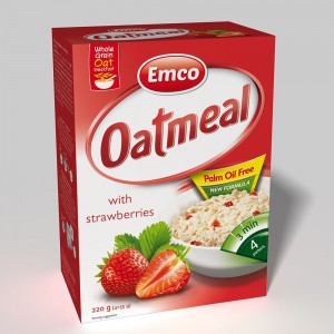 Emco Expres Oat Meal With Strawberries 4X55 G