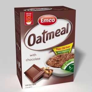 Emco Expres Oat Meal With Chocolate 4X55 G