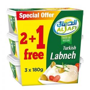 Al Safi, Turkish Labneh, 180g x 3 pack (2 + 1Free)