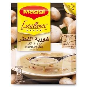 Maggi Excellence Cream Of Mushroom Soup, 10 Pcs