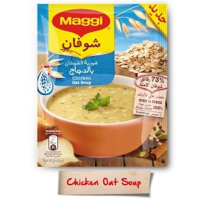 Maggi Oat With Chicken Soup Sachet 65g, 12 Pcs