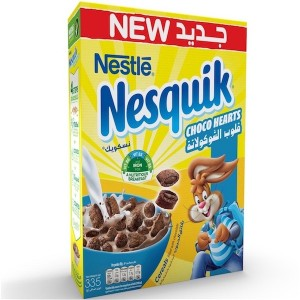 Nestle Nesquik Chocolate Hearts Breakfast Cereal - 335 gm