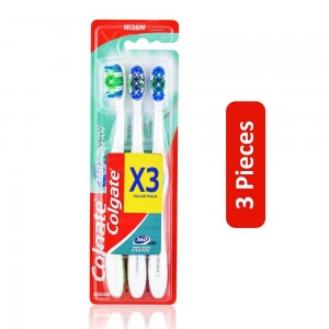 Colgate Whole Mouth Clean Toothbrush - 3 Pieces