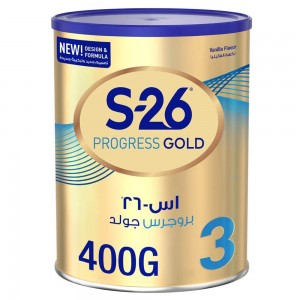 Wyeth S26 Progress Gold Stage 3, 1-3 Years Premium Milk Powder Tin 400g