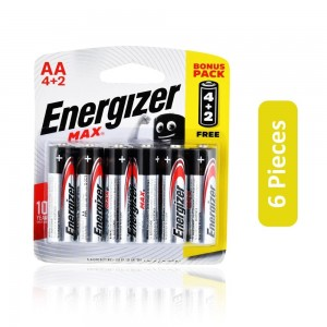 Energizer Max AA 4+2 Battery - 6 Pieces