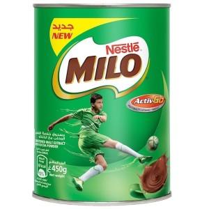 Milo Chocolate Milk Powder With Malt Extract 450g, 24 Pcs