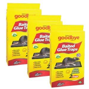 Goodbye Rat Baited Glue Trap 2+1