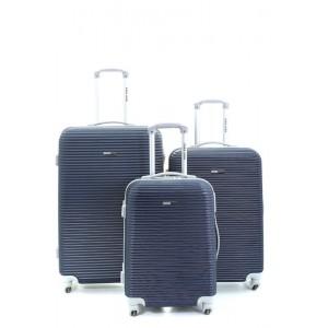 "Para John 3 Pcs Abs Trolley Bag 3045 20"",24"",28"""