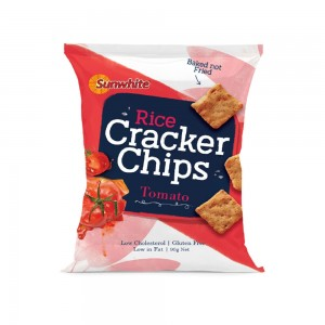 Sunwhite Rice Cracker Chips Tomato 90 gm