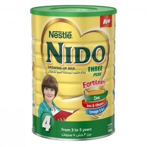 Nestle Nido Fortiprotect Three Plus (3-5 Years Old) growing Up Milk Tin 1800g, 6 Pcs