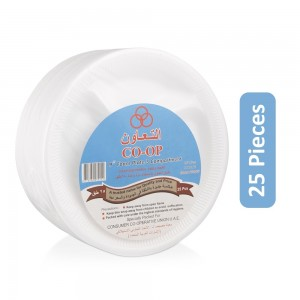 CO-OP 9-inch Foam Disposable Plate - 25 Pieces