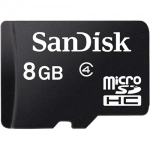 SanDisk 8GB Micro SDHC Card Class 4, w/o SD adapter