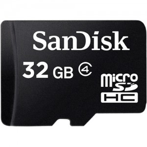 SanDisk 32GB Micro SDHC Card Class 4, w/o SD adapter