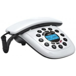 AEG Style 12 Retro Design Corded Phone, White
