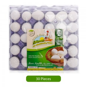 Abudhabi Poultry Farm White Eggs - Medium, 30 Pieces