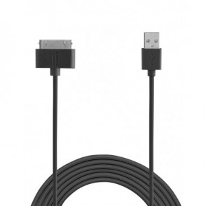 Aiino - 30 Pin Apple TPE cable 1,5 m - Black
