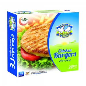 Al Rawdah Chicken Burger - 24 Pieces, 1200 g
