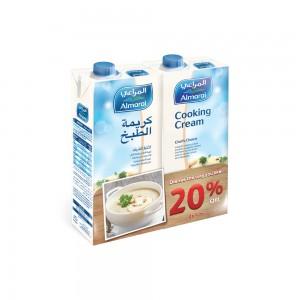 Almarai Cooking Cream - 2x1ltr