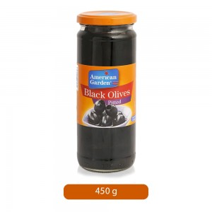 American Garden Pitted Black Olives - 450 g