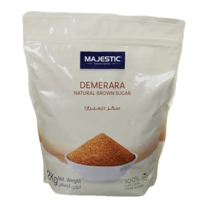 Majestic Demerara Nat Brown Sugar 2Kg